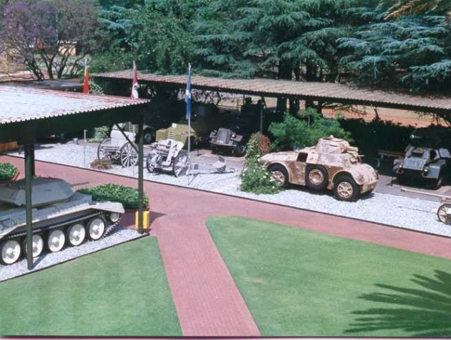 Armoured display at the entrance of the Museum